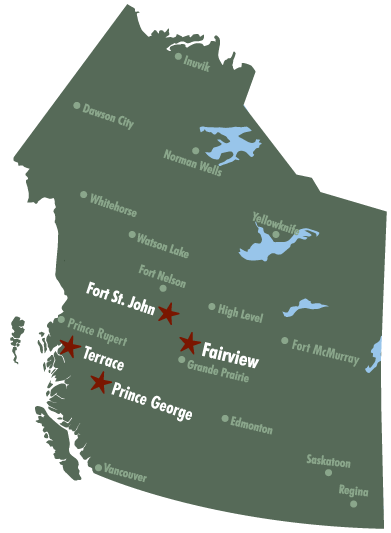 Roy Northern Environmental & Land Locations Western Canada